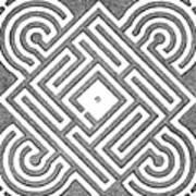 A Vintage Parterr Plan Art Print
