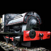A Vintage Steam Train Art Print