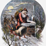 A Visit From St Nicholas Art Print