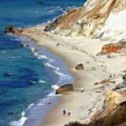 A Walk Along Aquinnah Beach Art Print