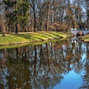 A Walk In The Park Lazienki Warsaw Art Print