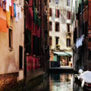 A Walk In Venice Art Print