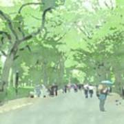 A Walk Through Central Park Art Print