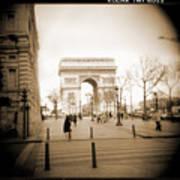 A Walk Through Paris 3 Art Print