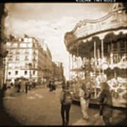 A Walk Through Paris 4 Art Print
