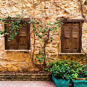 A Wall In Chania Art Print
