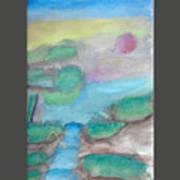 A Waterfall In Val Rennikh Art Print