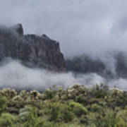 A Wave Of Fog On The Superstitions  Art Print