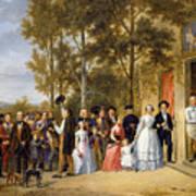 A Wedding At The Coeur Volant Art Print