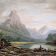 A Welsh Valley Art Print by John Varley