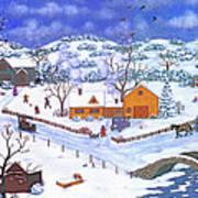 A Winter Evening Art Print