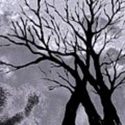 A Winter Night Silhouette Art Print
