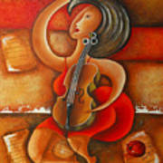 A Woman And Her Violin Art Print