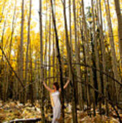 A Woman In The Aspen Art Print