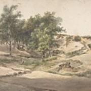 A Wooded Landscape Near Beekhuizen Art Print