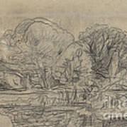 A Woodland Pond Art Print