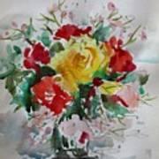 A Yellow Rose Art Print