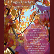 A Yoga Teacher Art Print by Felipe Adan Lerma