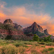 A Zion Sunset Art Print