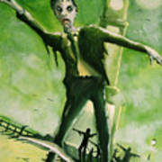 A Zombie In Herne Bay Print by Paul Mitchell