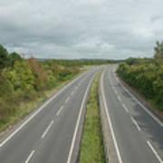 A27 Dual Carriageway Totally Clear Of Traffic. Art Print
