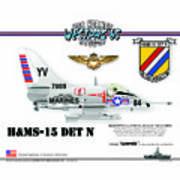 A4-c Skyhawk Vsf Art Print