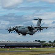 A400m Plane Lands Art Print