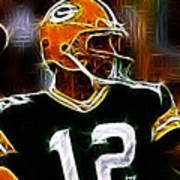 Aaron Rodgers - Green Bay Packers Art Print