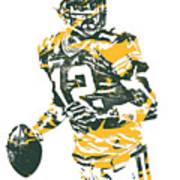 Aaron Rodgers Green Bay Packers Pixel Art 15 Art Print