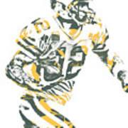 Aaron Rodgers Green Bay Packers Pixel Art 22 Art Print