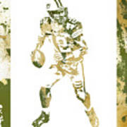 Aaron Rodgers Green Bay Packers Water Color Art 1 Art Print