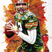 Aaron Rodgers Art Print by Maria Arango