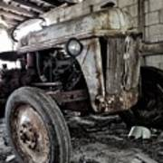 Abanded Tractor 3 Art Print