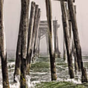 Abandon Pier Thru The Fog Art Print