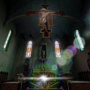 Abandoned Blue Church - Chiesa Blu Abbandonata Art Print