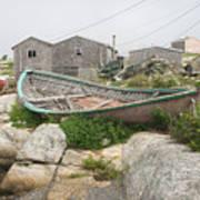 Abandoned Boat Ashore Art Print