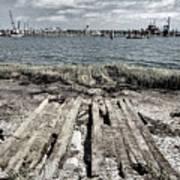 Abandoned Boat Slip Art Print