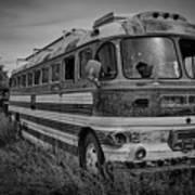 Abandoned Bus Art Print