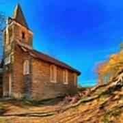 Abandoned Church Of Abandoned Village Paint - Chiesa Abbandonata Di Paesino Abbandonata Paint Art Print