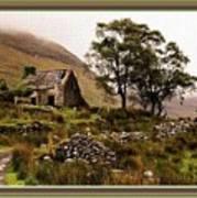 Abandoned Cottage - Scotland H B With Decorative Ornate Printed Frame Art Print