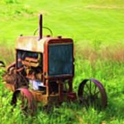 Abandoned Farm Tractor Art Print