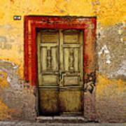 Abandoned Green Door 2 Art Print