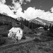 Abandoned Home In Silverton In Black And White Art Print