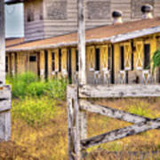 Abandoned Horse Stables Art Print