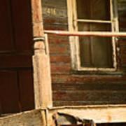 Abandoned House - Abandoned Porch Art Print