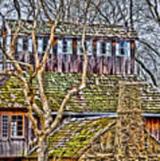 Abandoned House-don Robinson State Park-enhanced Art Print