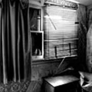 Abandoned Motel Room Art Print