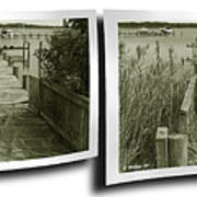 Abandoned Pier - Gently Cross Your Eyes And Focus On The Middle Image Art Print