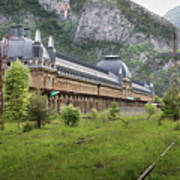 Abandoned Side Of The Canfranc International Railway Station Art Print