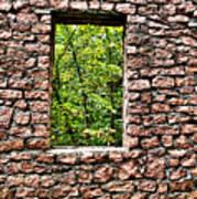 Abandoned Stone Wall With Window Art Print
